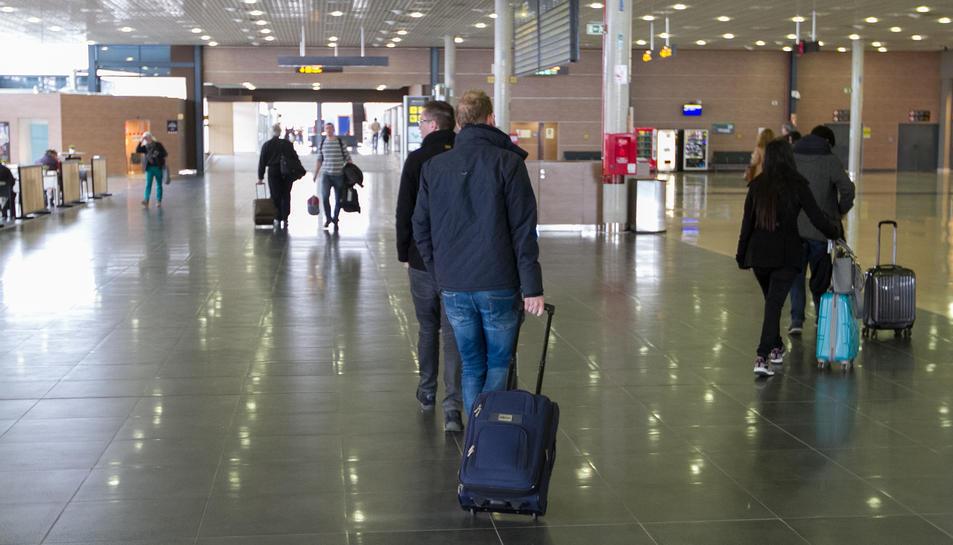 Una imatge d'arxiu de l'interior de l'Aeroport, que van tancar el 2017 amb 1.022.964 usuaris.