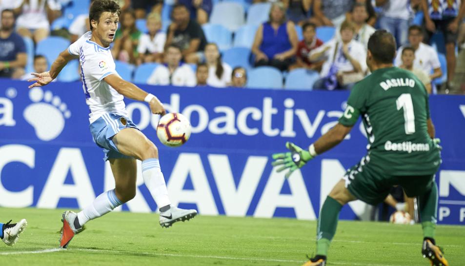 Imatge d'arxiu d'un partit del Real Zaragoza a la Romareda,  en les jornades inicials de la temporada.
