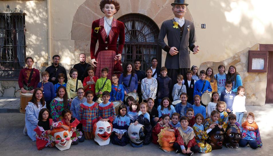 Imatge de la trobada de gegants que va tenir lloc el passat cap de setmana per la Festa Major del municipi.