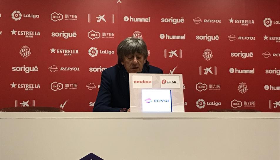 Enrique Martín, a la sala de premsa.