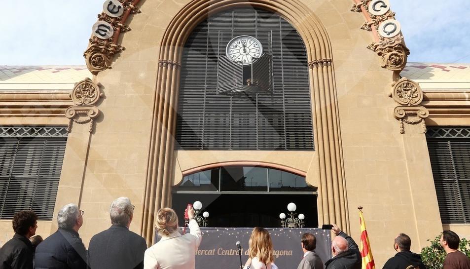 Inauguració del carilló del Mercat Central