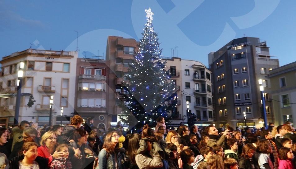 Encesa de llums de Nadal del Mercat