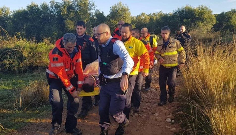 Javier Ramonena ha estat evacuat a l'Hospital del Vendrell per sotmetre's a una revisió, ja que presentava símptomes d'hipotermia i desnutrició.