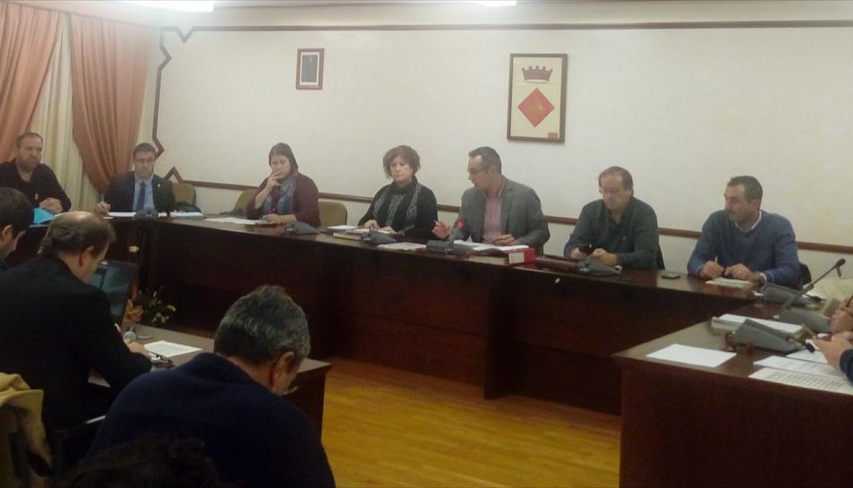 El ple municipal, reunit el passat dijous, en sessió ordinària.