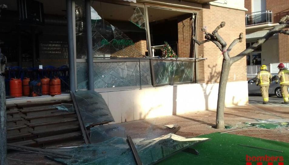 Imatge del restaurant després de l'explosió.