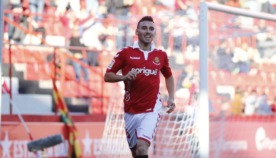 Imanol García, després de marcar el gol contra l'Almería