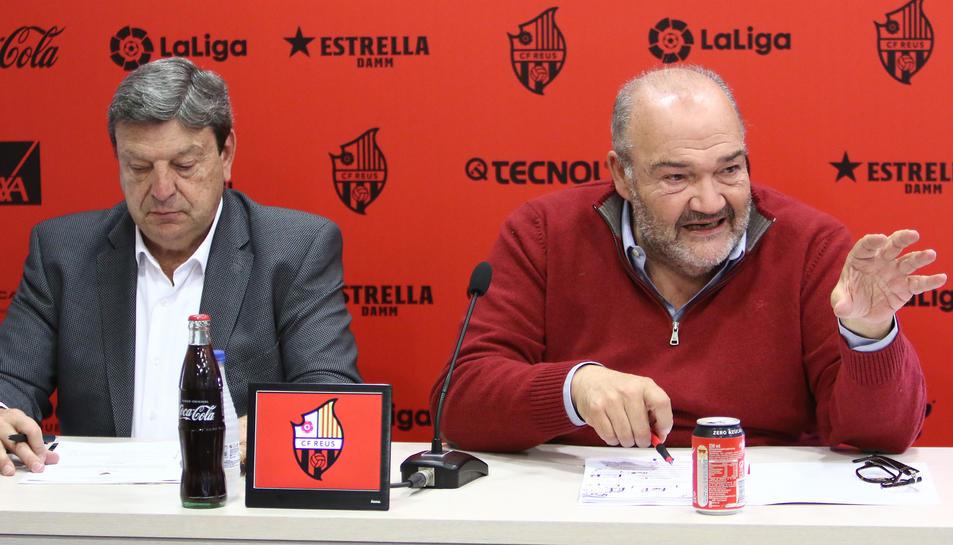Oliver, a la dreta, amb Xavier Llastarri.