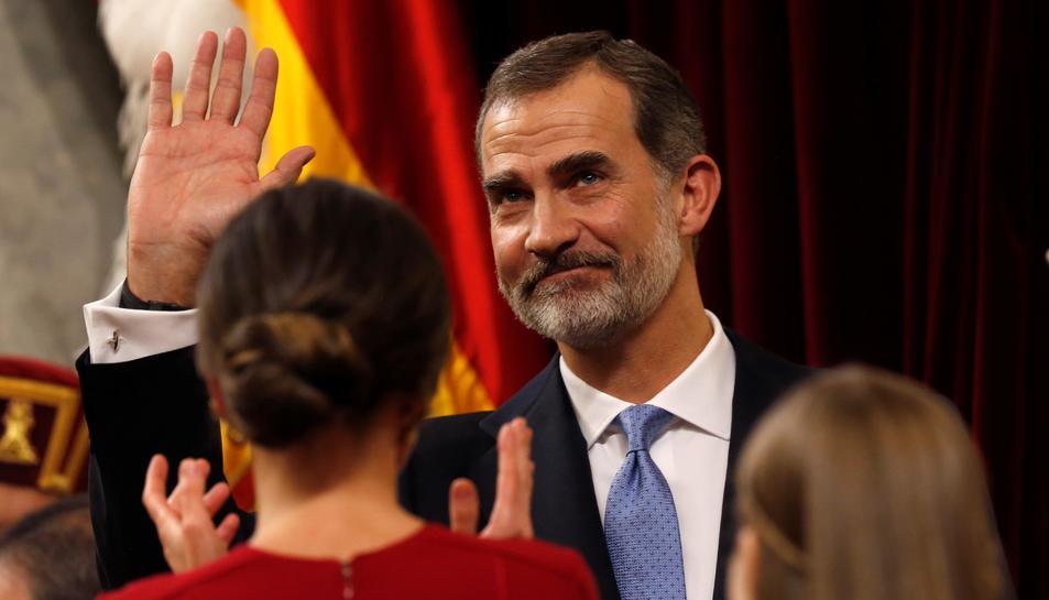 El Rei Felip VI després del seu discurs.