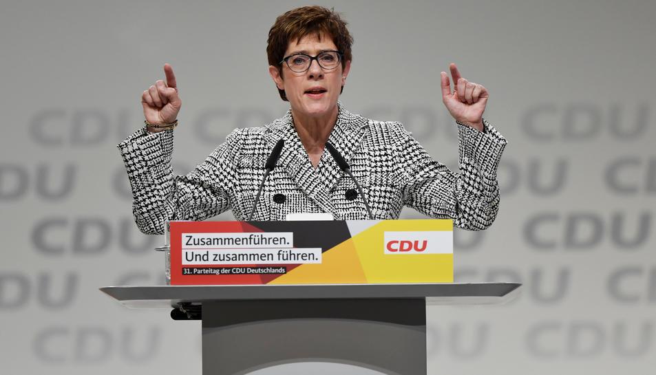La secretària general de la CDU i candidata al lideratge del partit, Annegret Kramp-Karrenbauer