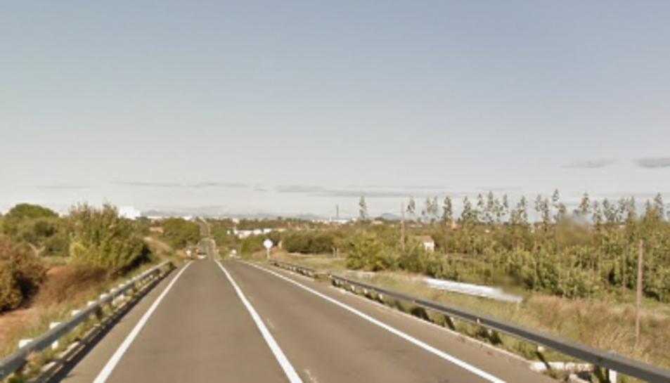 La via on es va produir l'accident