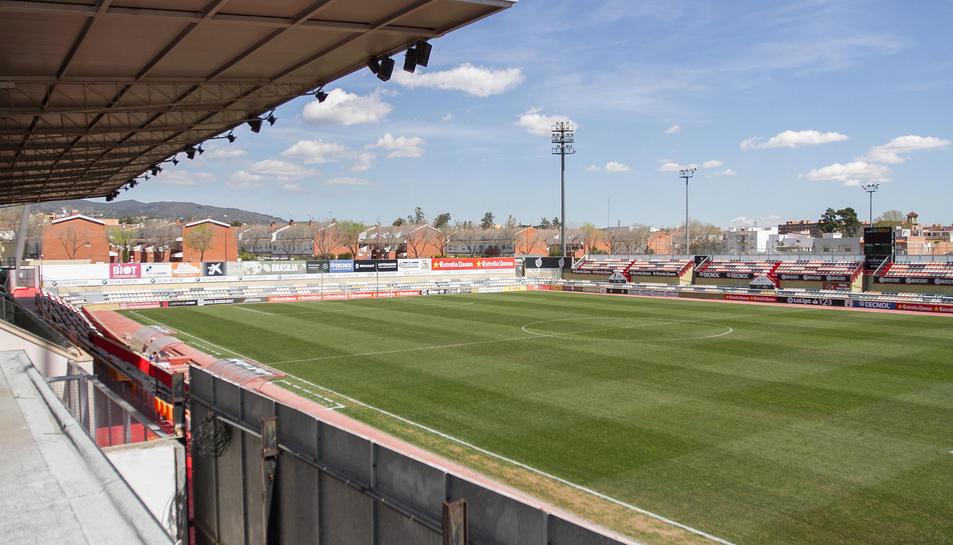Imatge d'arxiu de l'Estadi Municipal de Reus, actualment espai del CF Reus Deportiu.
