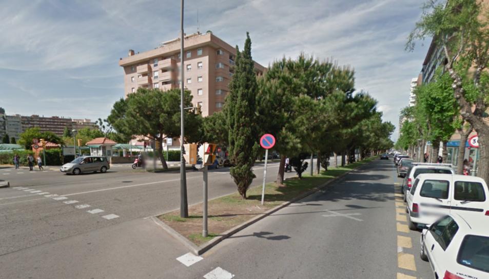 Imatge de l'avinguda Roma de Tarragona a la alçada de la plaça Alcalde Lloret.