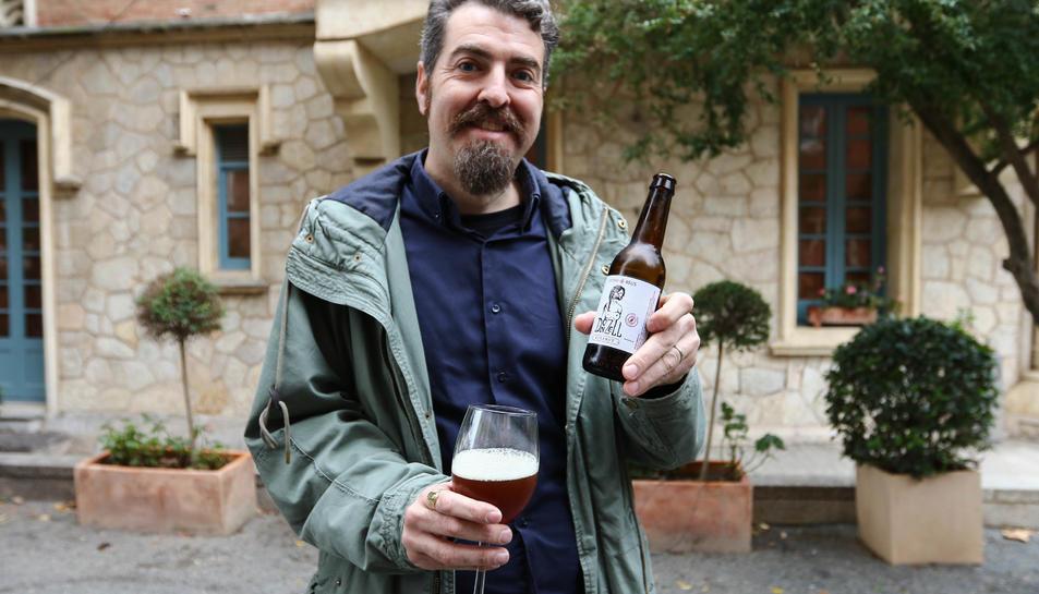 El president de  l'Associació de Cervesers aquest diumenge, al jardí de la Casa Rull