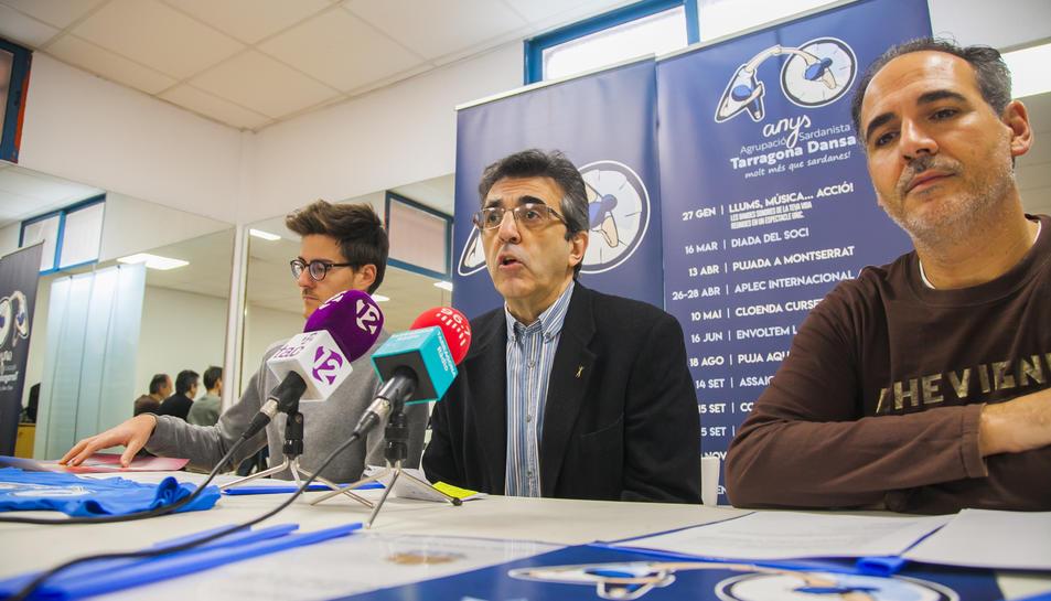 Genís Boix, Alfred Abad i David Allué, ahir durant la presentació dels actes del 40è aniversari.