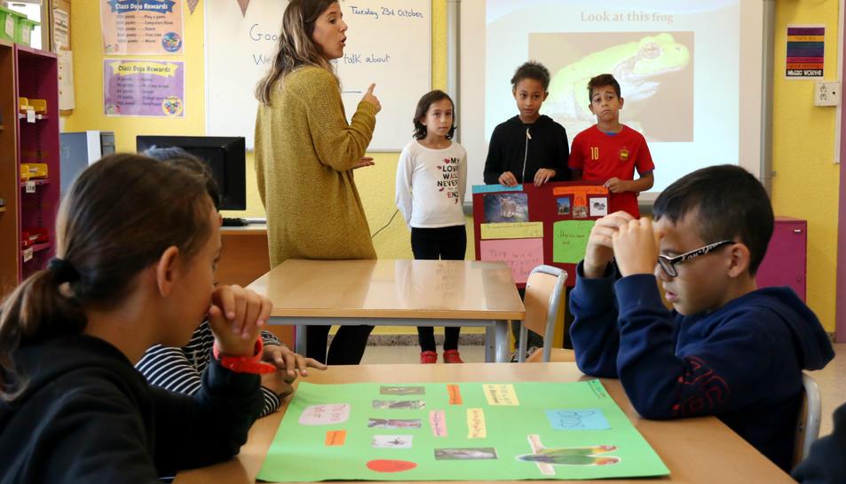 Imatge d'arxiu d'una classe.