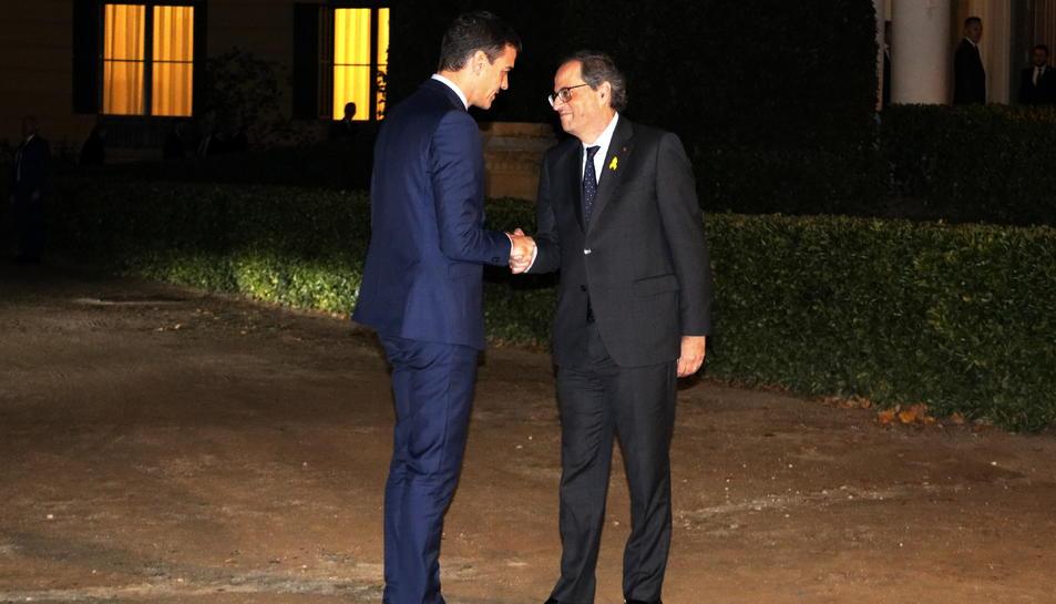 El president espanyol i el català durant la trobada a BArcelona el passat 21-D