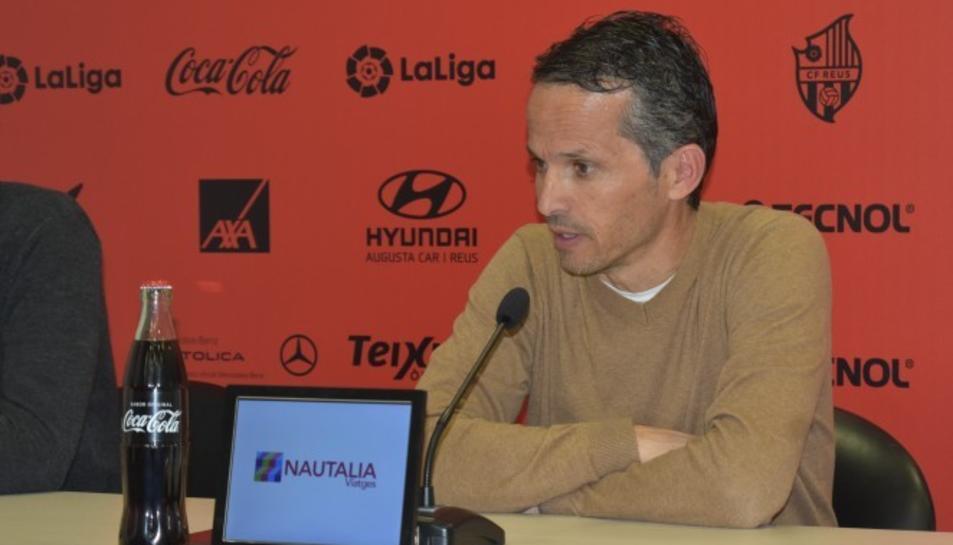 Imatge del tècnic Xavi Bartolo durant la seva compareixença.