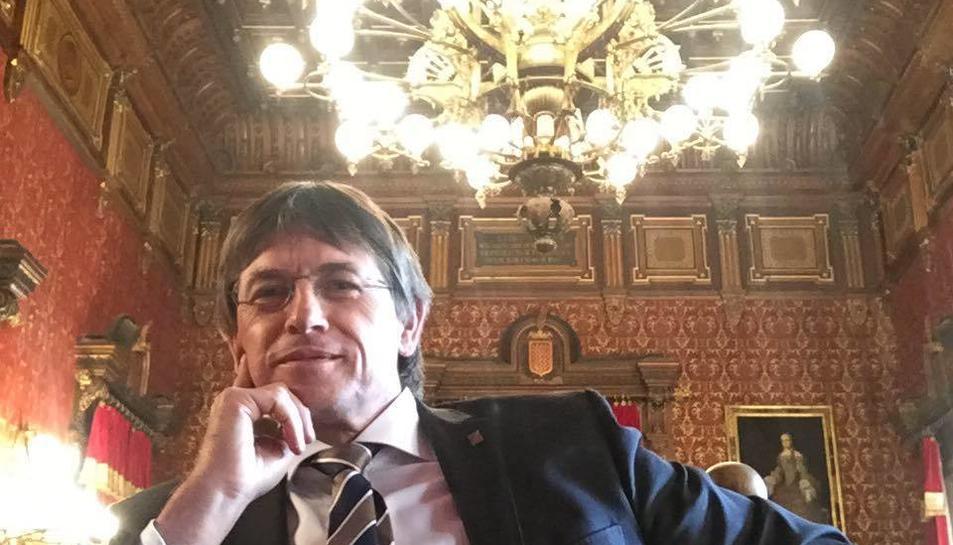 El secretari general, Joan Anton Font, a l'Ajuntament.