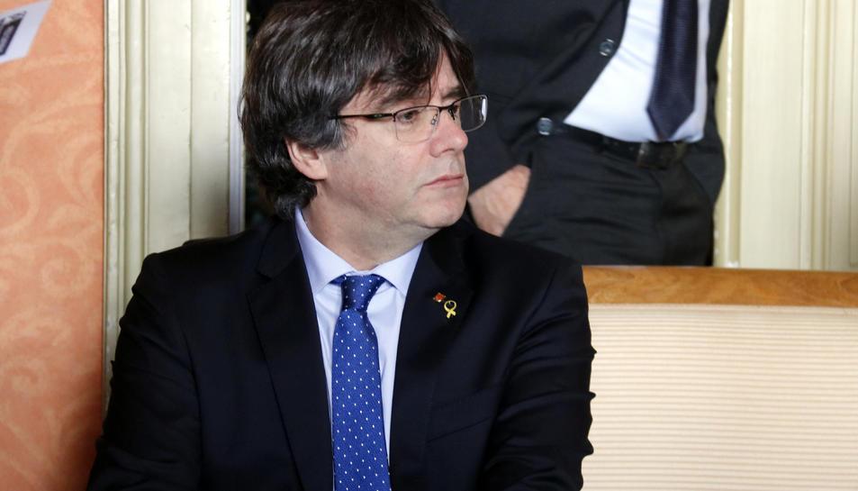 Carles Puigdemont a Ginebra, el 20 de desembre de 2018.