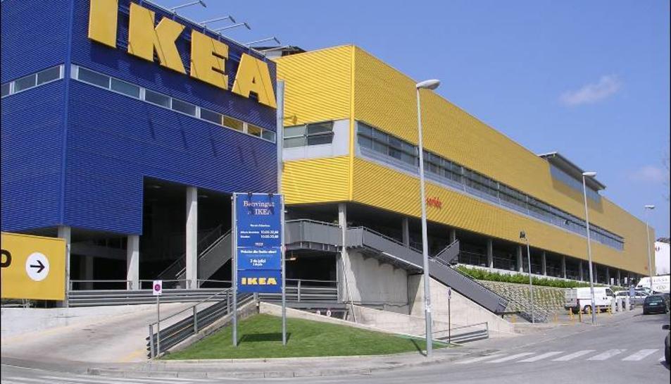 La botiga d'Ikea ubicada a Badalona (Barcelona).