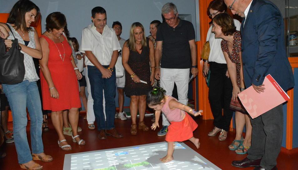 L'aula multisensiorial es va inaugurar el 2016, amb la presència de l'alcalde Ballesteros.