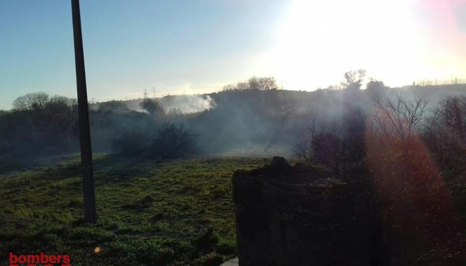 Imatge de l'incendi de Constantí.