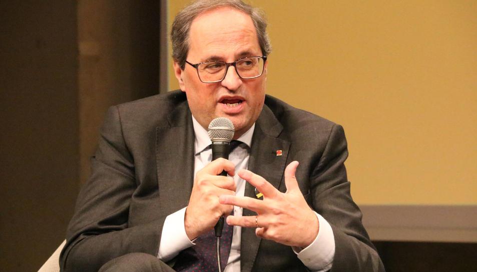El president del Govern, Quim Torra, al CCCB de Barcelona.