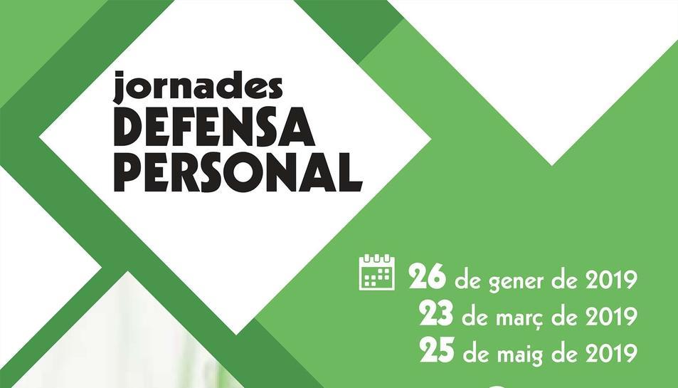 Imatge del cartell del curs de defensa personal.