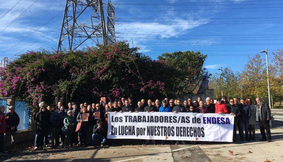 Imatge d'una concentració que treballadors de l'empresa Endesa van dur a terme recentment.