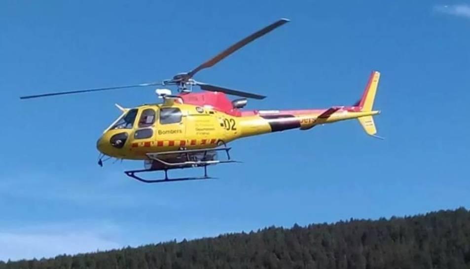Imatge d'arxiu de l'helicòpter dels Bombers de la Generalitat.