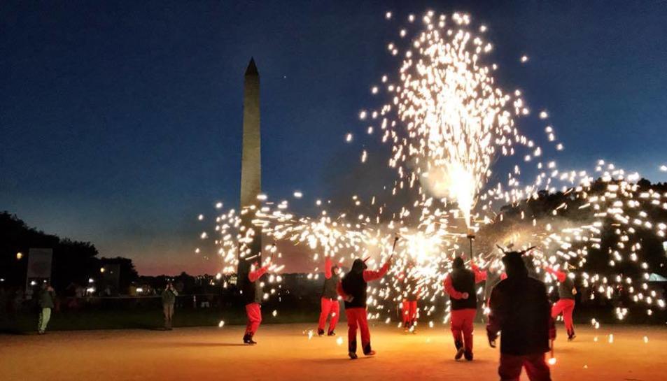 Imatge d'una de les actuacions de l'any passat a l'Aplec Internacional que es va celebrar a Washington.