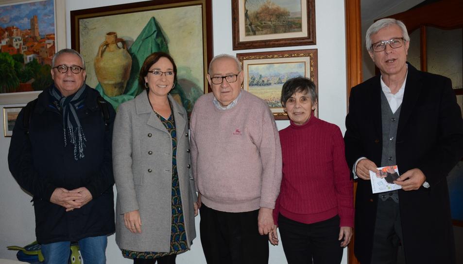 Josep Fèlix Ballesteros i Begoña Floria han traslladat l'oferiment de ser pregoner, aquest matí, a Eduard Boada.