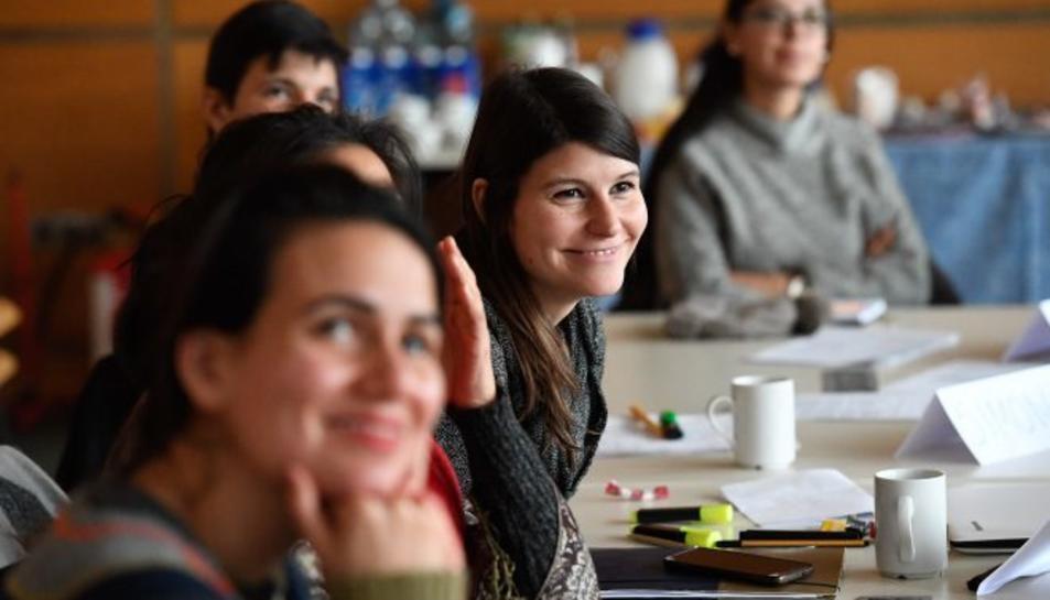 Imatge d'alumnes d'un dels cursos de formació de la xarxa G-NET.