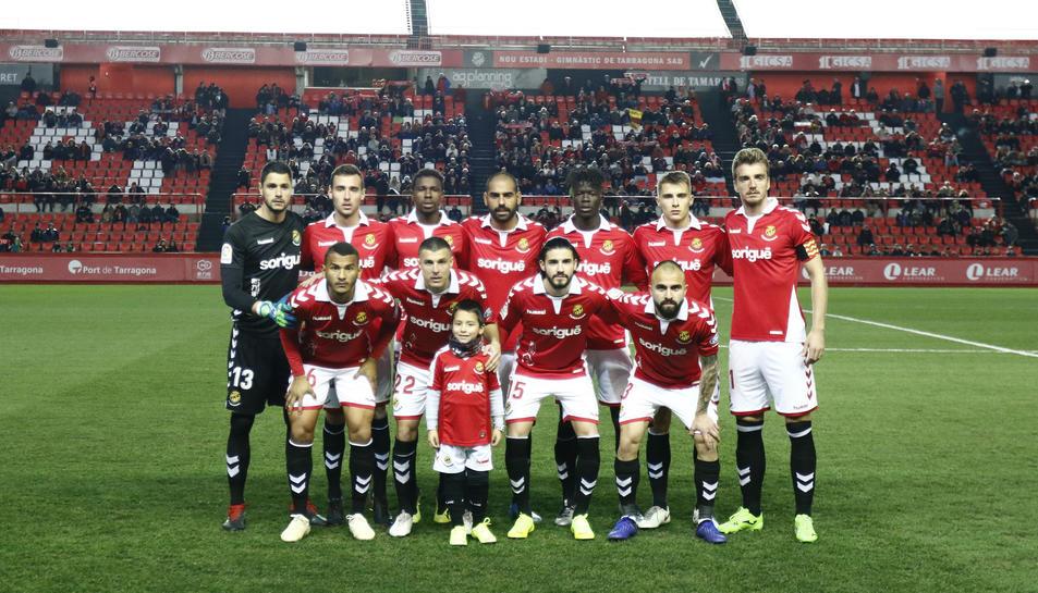 L'onze del Nàstic en el partit disputat contra el Córdoba