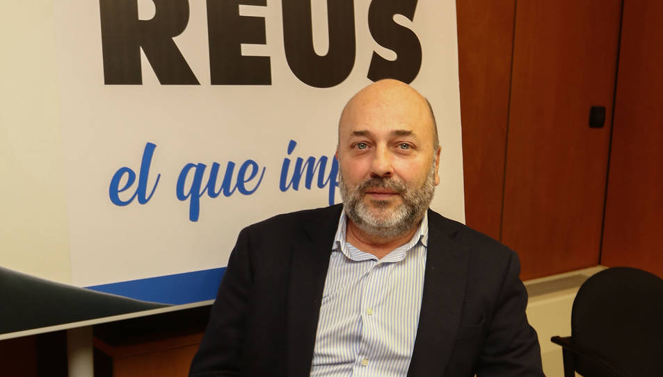 Domènech, al despatx del grup municipal del PP.