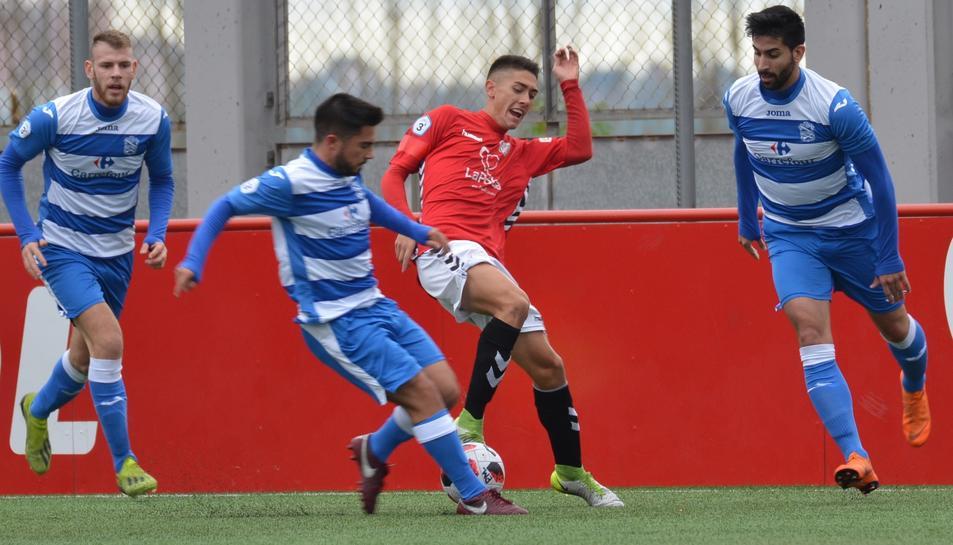 Sergio Montero és un habitual en els entrenaments del primer equip, però juga amb la Pobla.