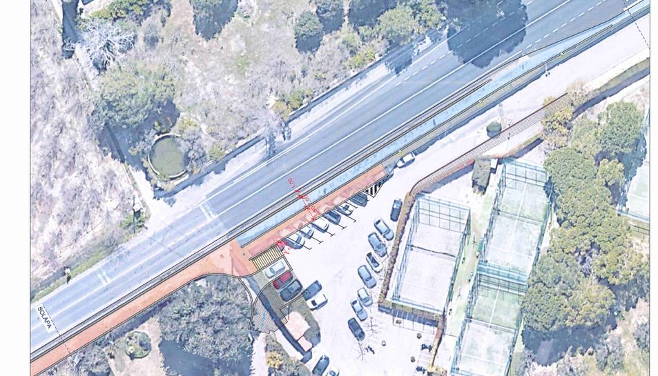 Imatge d'un dels plànols que projecten com quedarà la vorera de la carretera de Cambrils.