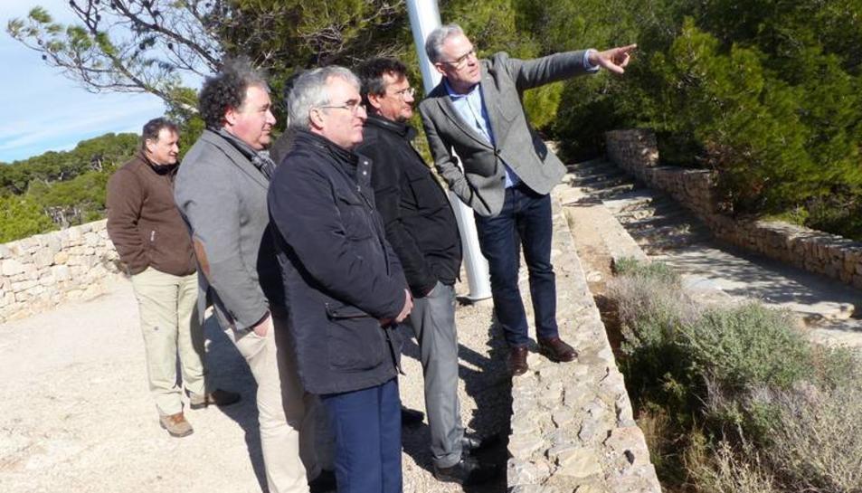 Imatge de la visita al Camí de Ronda de Salou.