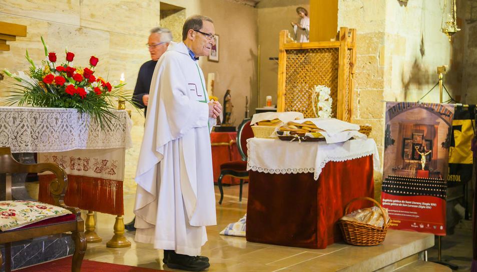 Benedicció d'animals a l'església de Sant Llorenç