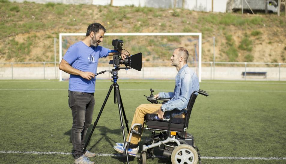 Imatge de la gravació del documental.