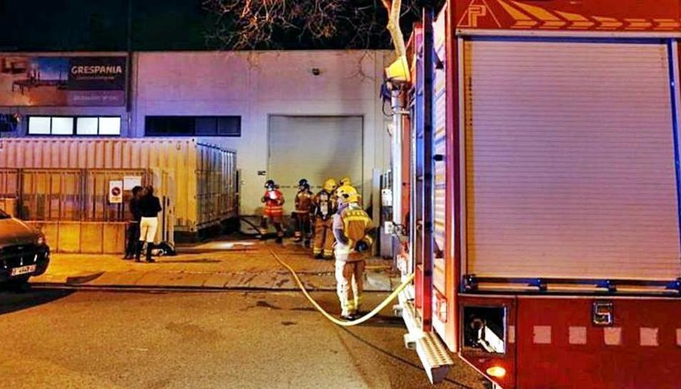 Els treballadors de l'empresa han estat evacuats.