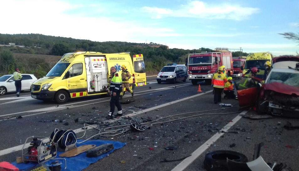 L'accident ha causat un mort i un ferit greu.