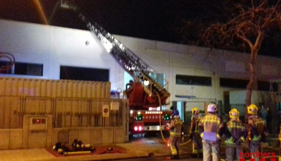 La coberta del sostre també estava afectada pel foc.