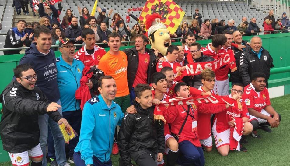 L'exentrenador del primer equip del Nàstic, Gordillo, ha anat a veure el conjunt tarragoní