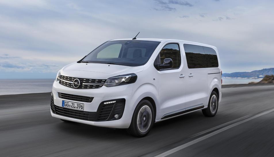 El nou Opel Zafira Life està disponible en tres configuracions, segons la seva mida.