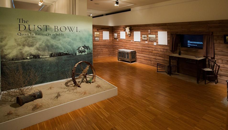 Imatge de l'exposició 'The Dust Bowl' que va acollir el Museu de la Vida Rural.