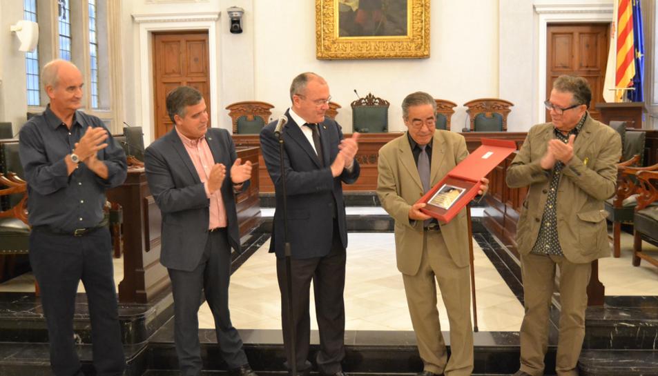 Imatge de l'acte d'entrega del reconeixement a Zaragoza el juny del 2018.
