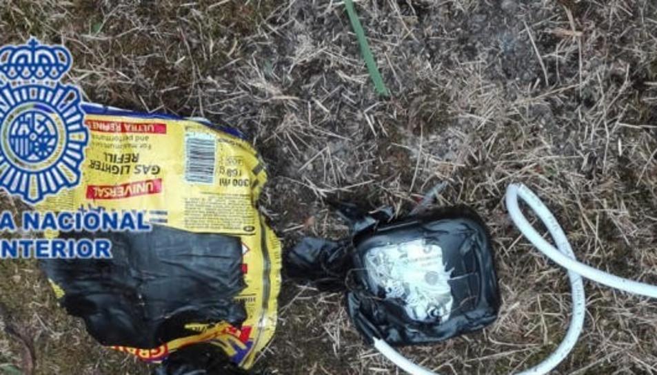 Imatge d'un dels artefactes explosius que va utilitzar el detingut.