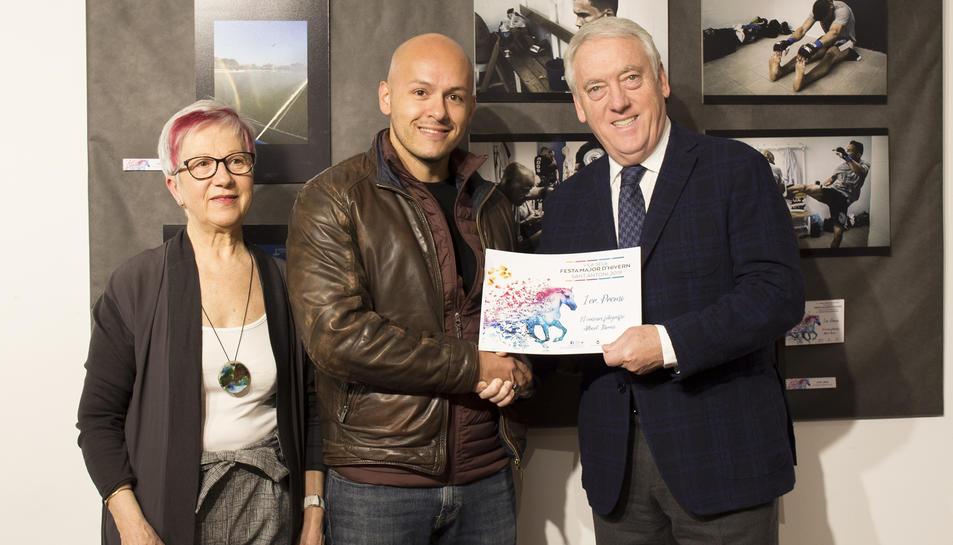 Imatge del lliurament del 1r premi.