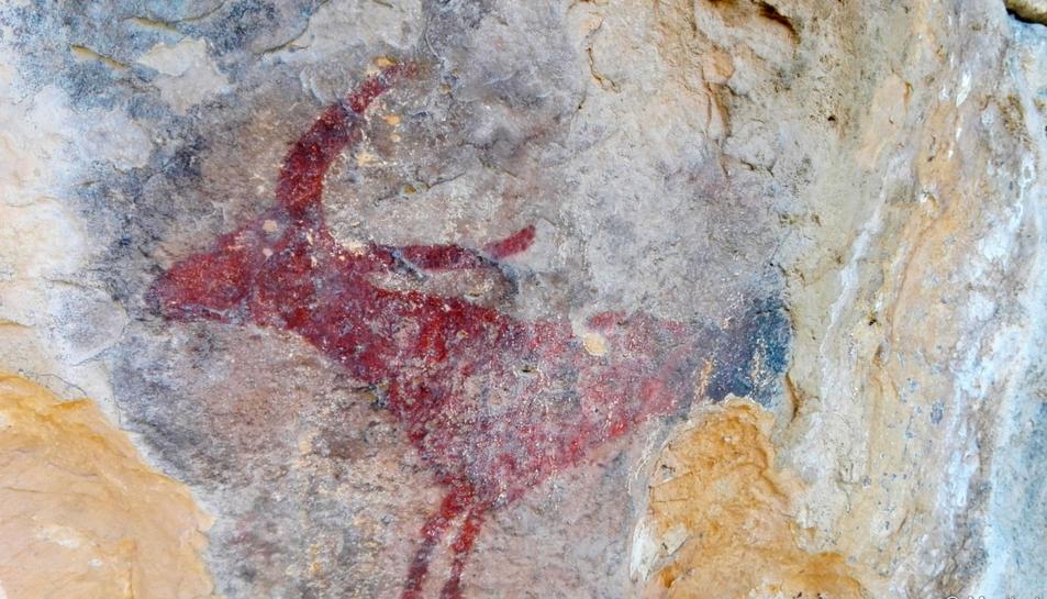 Pintura rupestre a Rojals